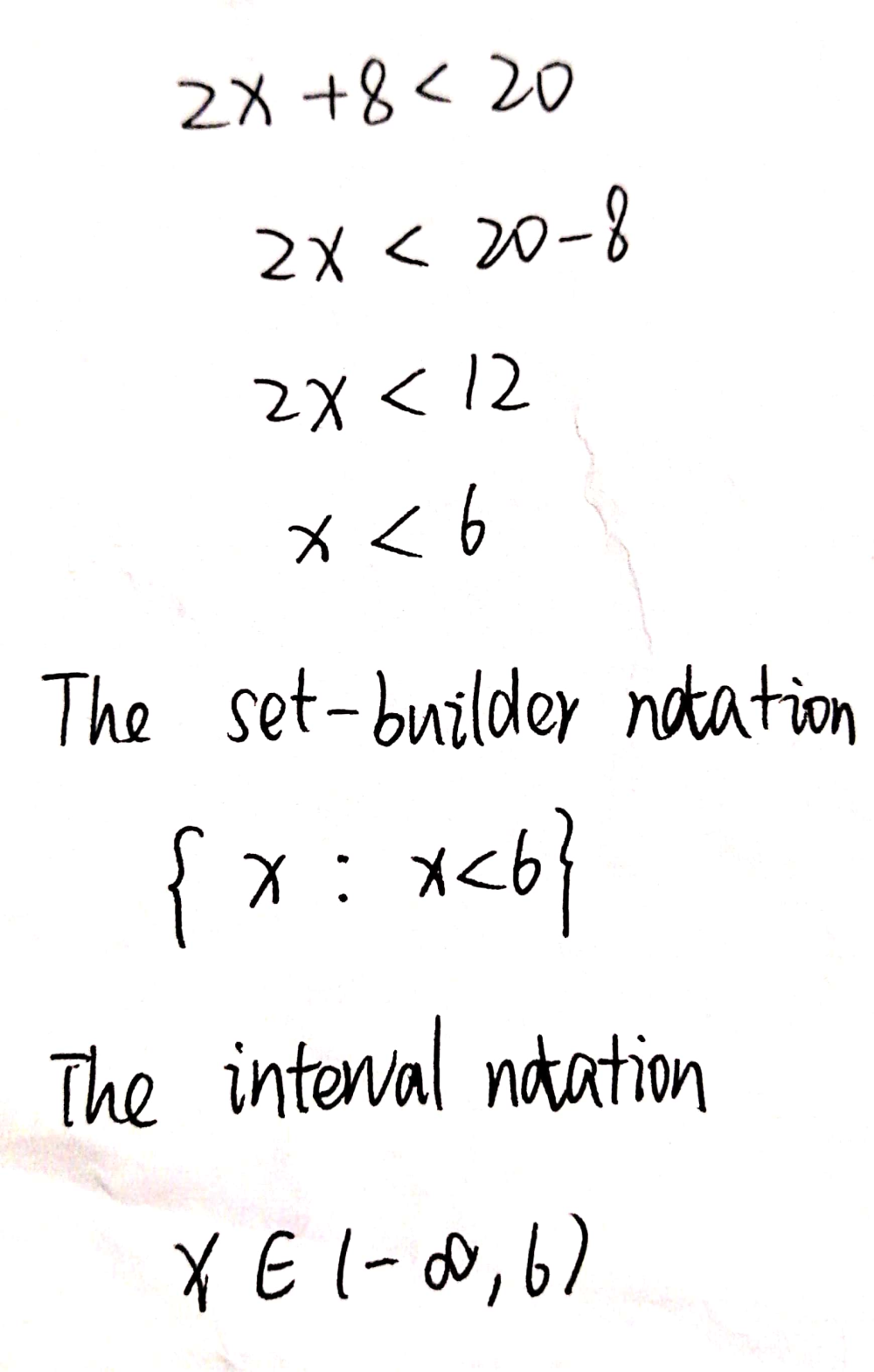 Solve the inequality and graph the solution set. Write the