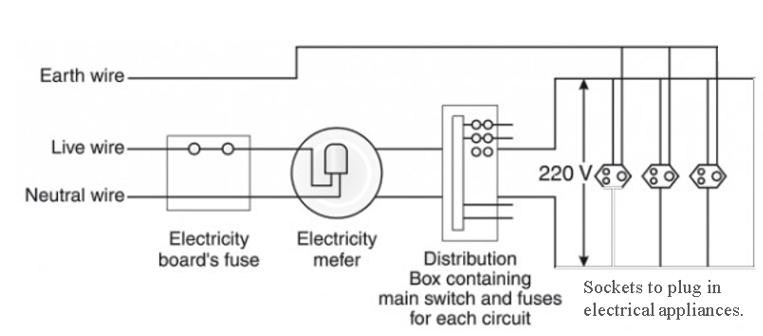 Draw A Schematic Diagram Of Common, Domestic Wiring Diagram Class 10
