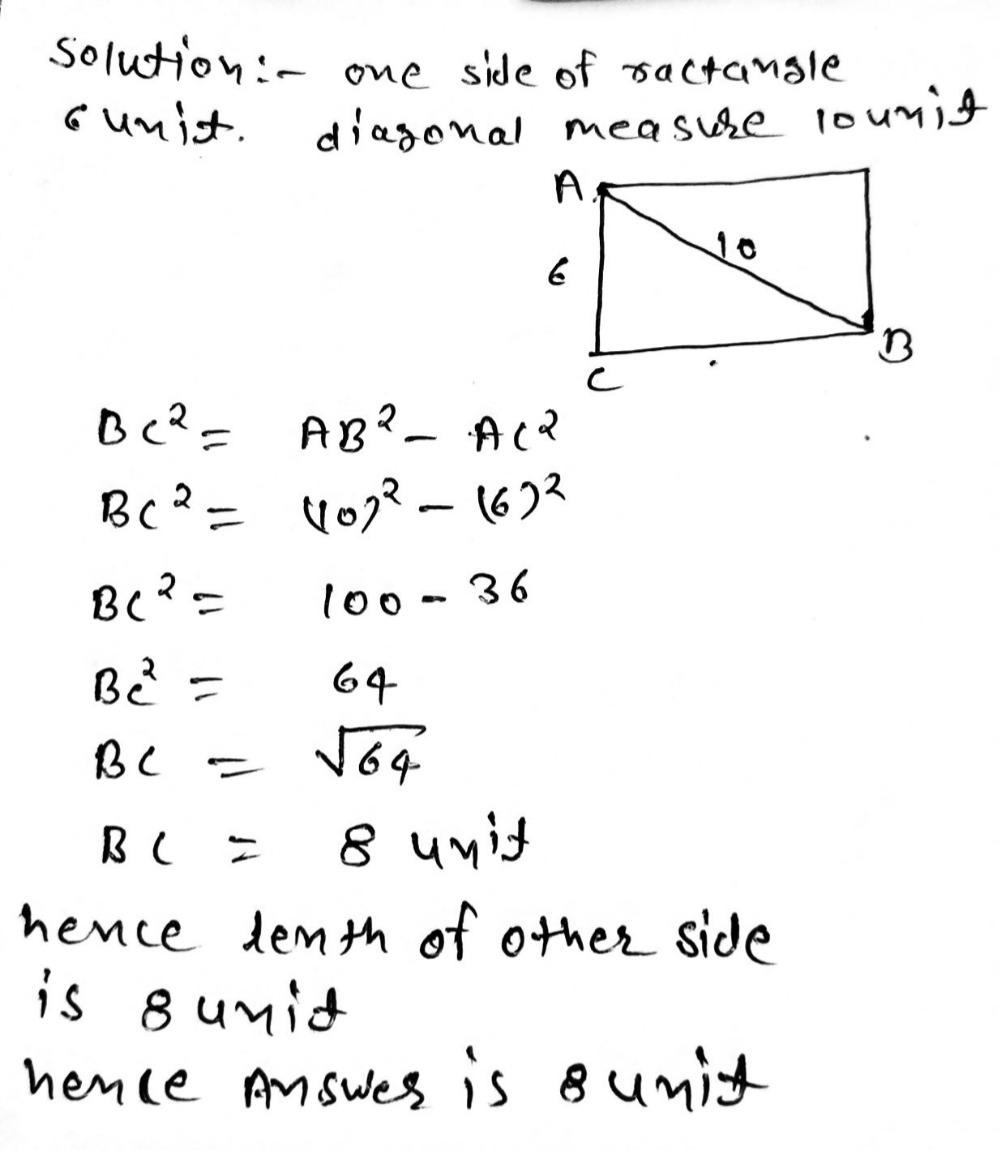 Find the length of the missing side of a rectangle - Gauthmath
