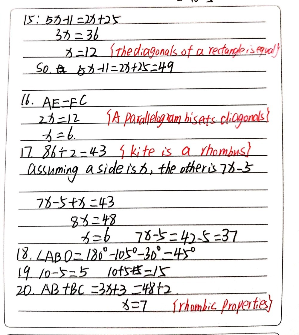 24. The diagonals of a rectangle have lengths 24x-24 - Gauthmath